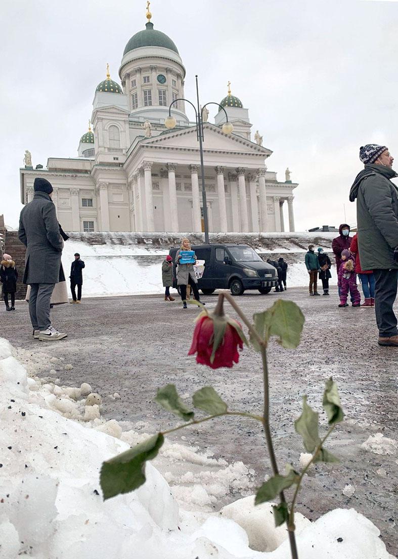 You are currently viewing В Хельсинки прошли акции в поддержку Алексея Навального