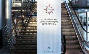 Всех прибывающих в аэропорт Хельсинки-Вантаа тестируют на коронавирус