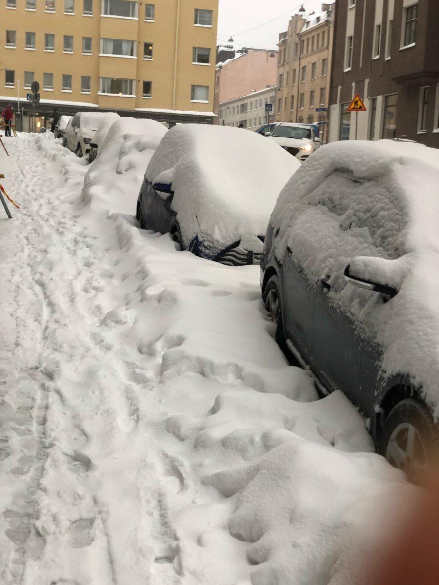 На юге Финляндии вновь идут снегопады: спасатели предупредили о сложной ситуации на дорогах