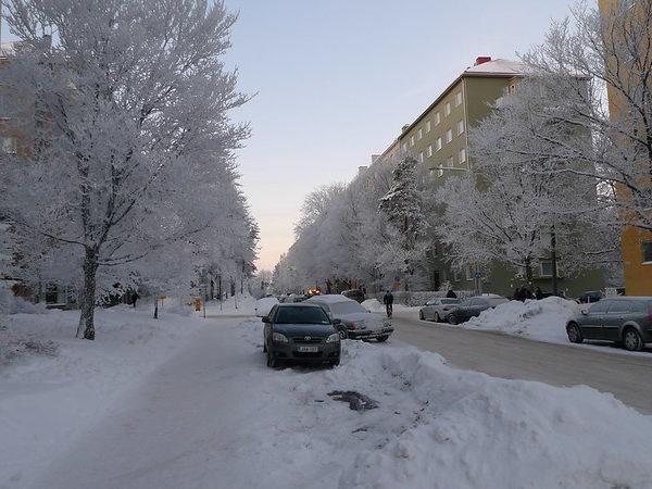 В субботу в Финляндии ожидаются снегопады, похолодание и ухудшение ситуации на дорогах