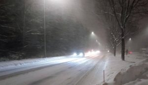 Южную Финляндию накрыла снежная буря