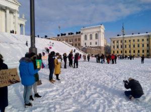 В Хельсинки вновь прошли акции в поддержку Навального