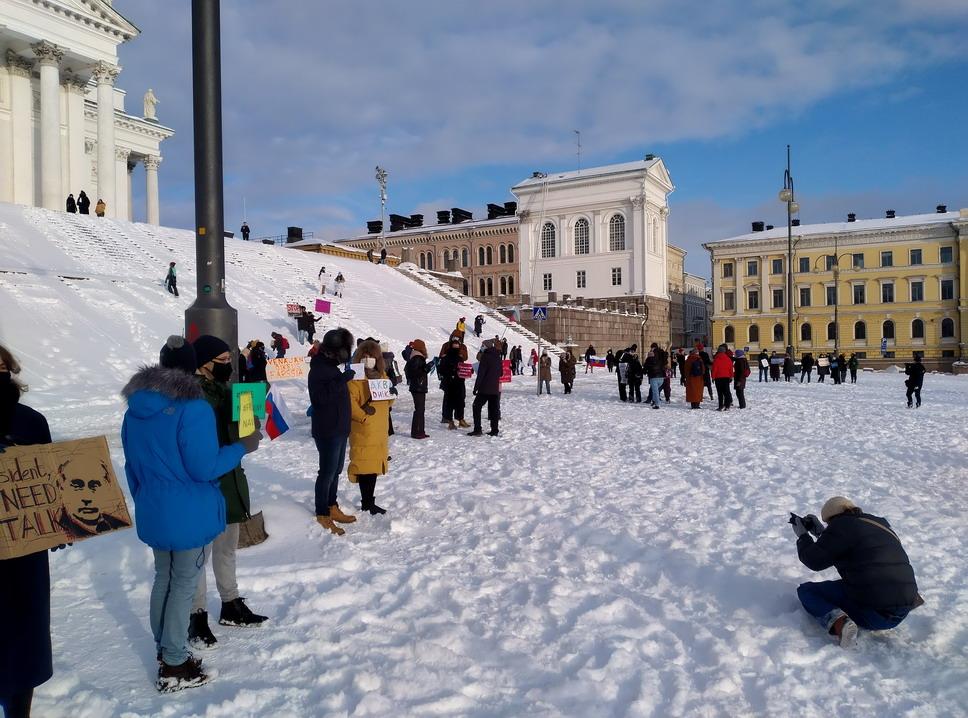 You are currently viewing В Хельсинки вновь прошли акции в поддержку Навального
