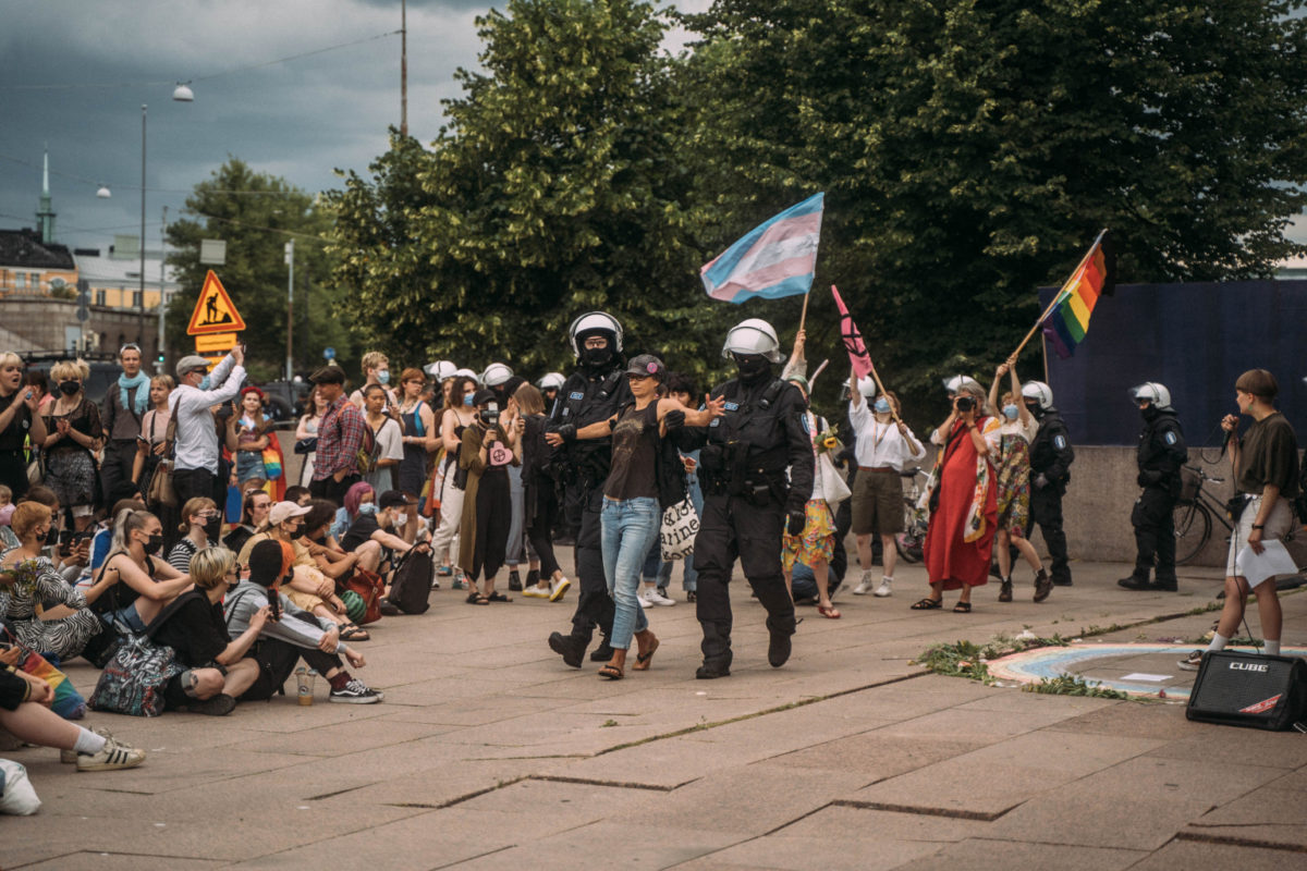 You are currently viewing В ходе разгона демонстрации экоактивистов прошли массовые задержания