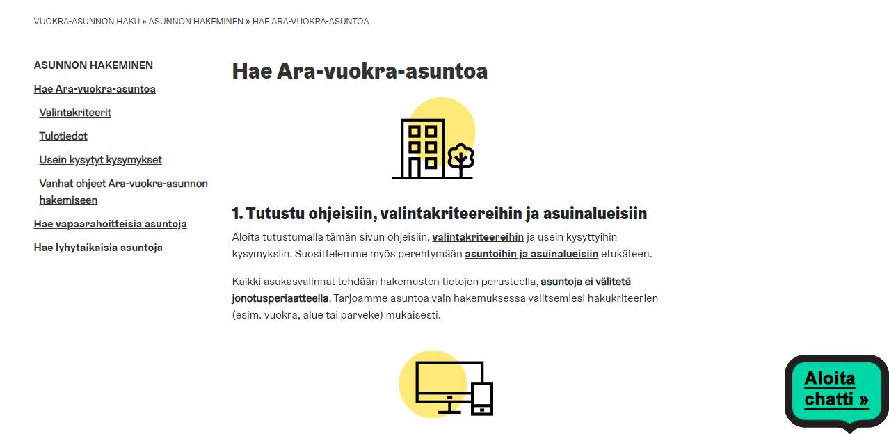 Хельсинки запускает новый интернет-сервис подачи заявлений для получения и обмена муниципального жилья