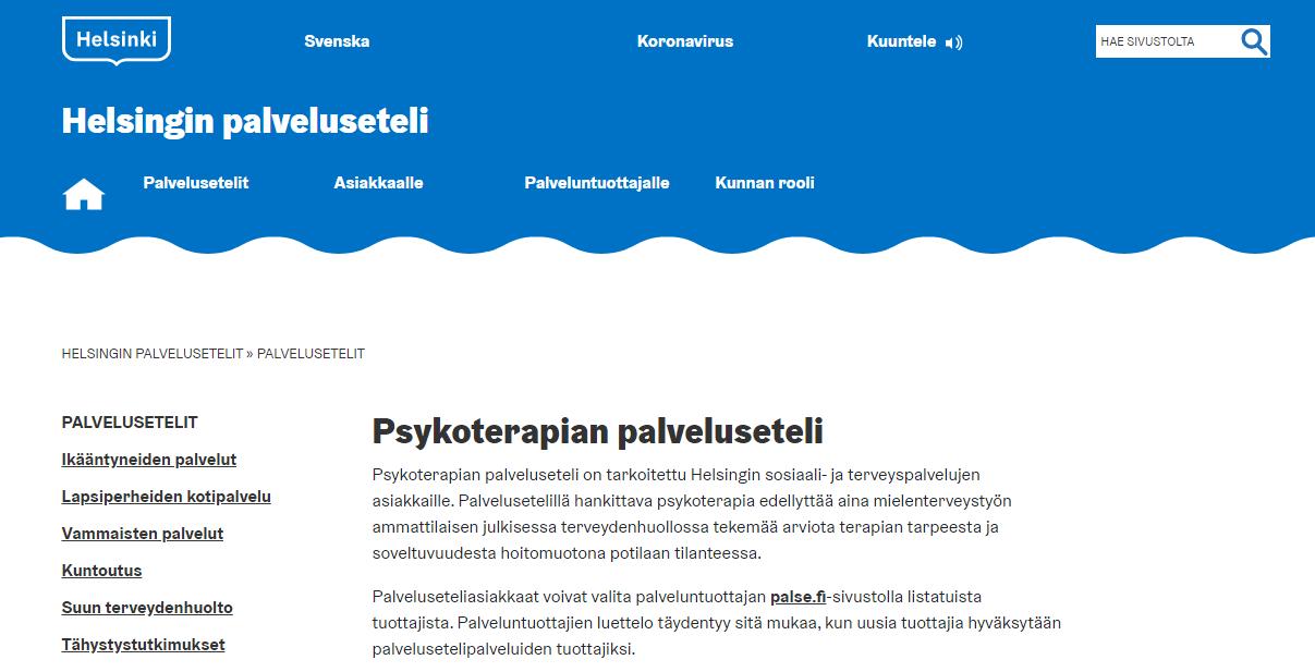 Read more about the article Психотерапия на льготных условиях в Хельсинки
